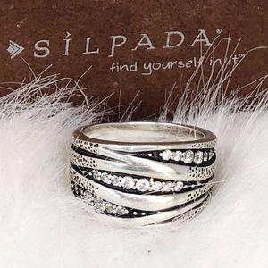 Silpada Organics Ring R2035 Sterling Silver Sz 8